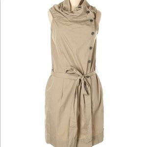 NEW Anthropologie Button Down Khaki Dress